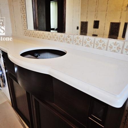 Столешница в ванную из кварца Caesarstone  4220 Buttermilk