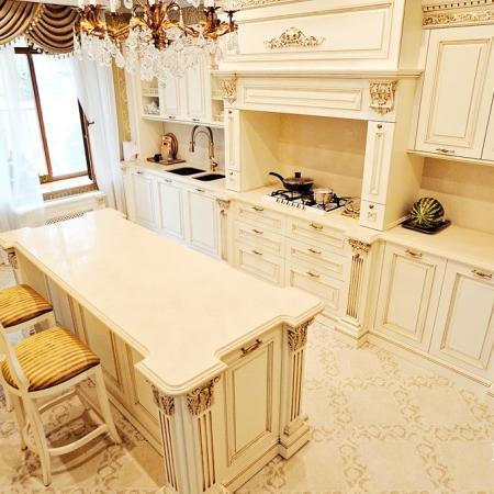 Столешница для кухни из кварцевого агломерата 5220 Dreamy Marfil